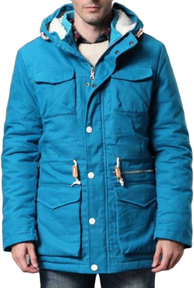 XQS Mens Winter Thicken Solid Packable Down Jacket Outwear Puffer Coats