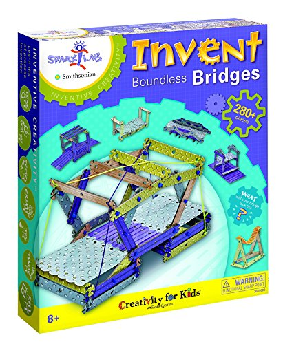"Creativity For Kids Spark!Lab Smithsonian ""Invent Boundless Bridges"" Building Set"