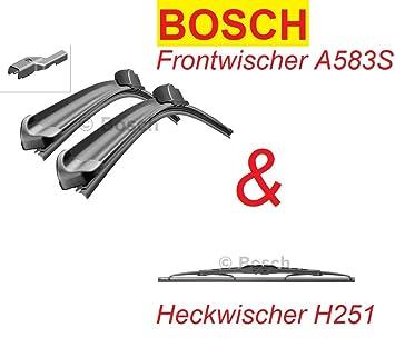Bosch Limpiaparabrisas Tipo A583S + H251 para delantera + trasera. compatible para Opel Mokka entre 09/2012 - 01/2016: Amazon.es: Coche y moto