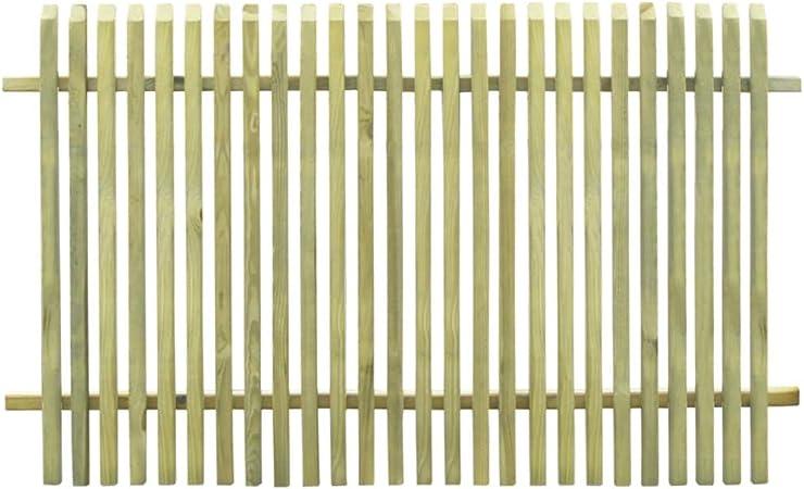 ghuanton Valla de jardín de Madera de Pino impregnada 170x100 cmBricolaje Vallas de jardín Paneles de Vallas: Amazon.es: Hogar