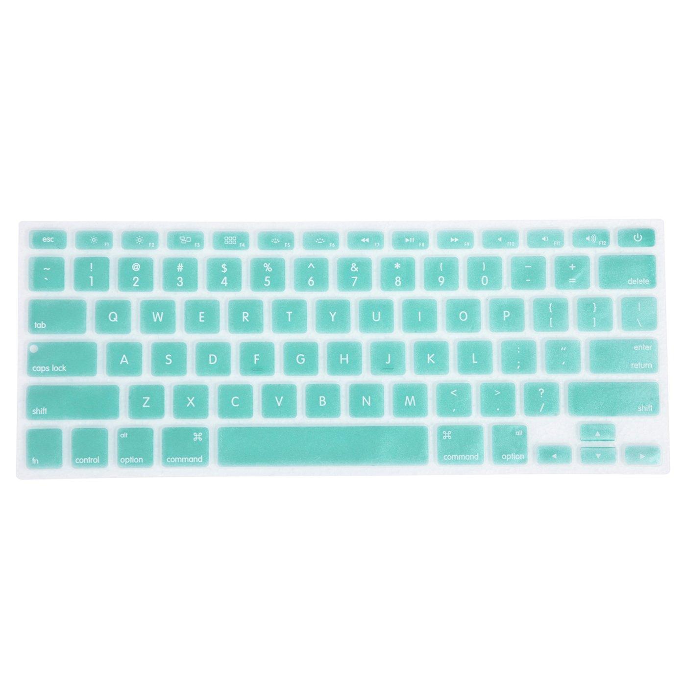 HDE Silicone Rubber Keyboard Skin Cover for Macbook Air 13 and MacBook Pro 13 Retina (Seafoam)