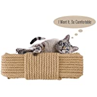 Aoneky Cat Scratching Post Sisal Rope - Hemp Rope for Cat Tree and Tower