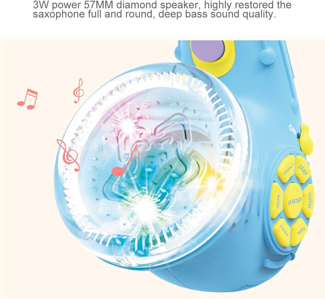 Rolanli Saxophone Enfant Simulation Mini Saxophone Instrument de Musique Jouet pour Enfants