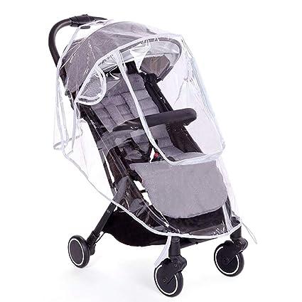 Protector de lluvia universal para silla de paseo, Cubierta impermeable, buena circulación del aire