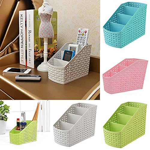 Mini 4 Grids Desk Storage Office Organizer Box Case Cosmetic Organizer Holder