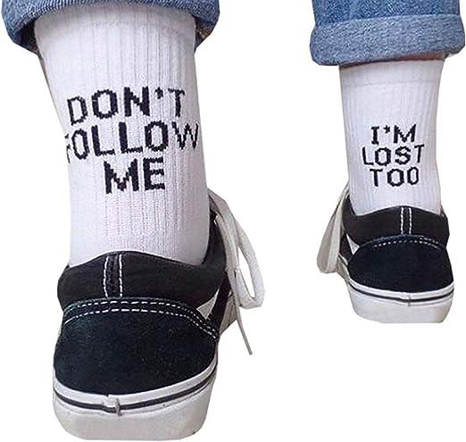 HYDZ: Calcetines de algodón Peinado con Texto en inglés Don t ...