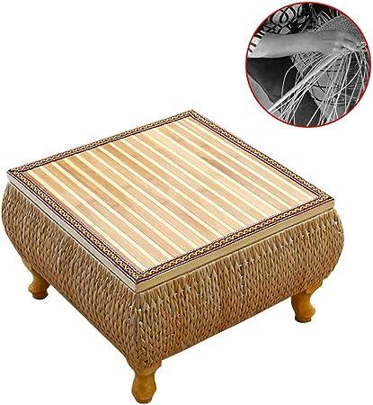 Muebles y Accesorios de jardín Mesas Mesa de Centro de ratán Almacenamiento de Estilo de Tabla ventanal sólido Tatami Madera Mesa Baja Almacenamiento Interno japonés, Tejida a Mano: Amazon.es: Hogar
