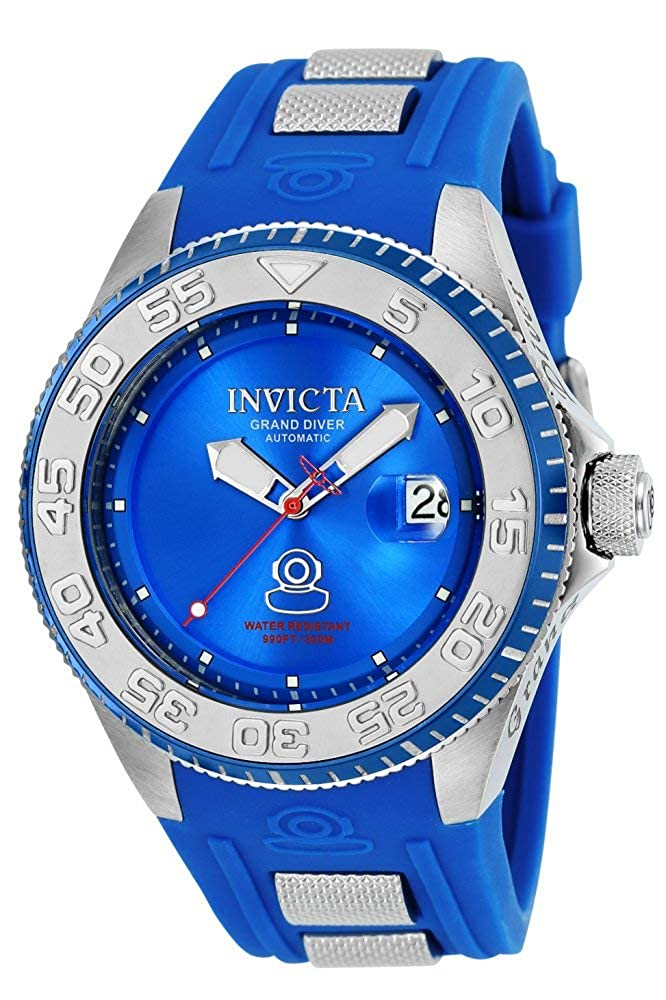 Invicta Men s Pro Diver Stainless Steel Chinese-Automatic Diving Watch with Silicone Strap, Blue, 28 Model 25254