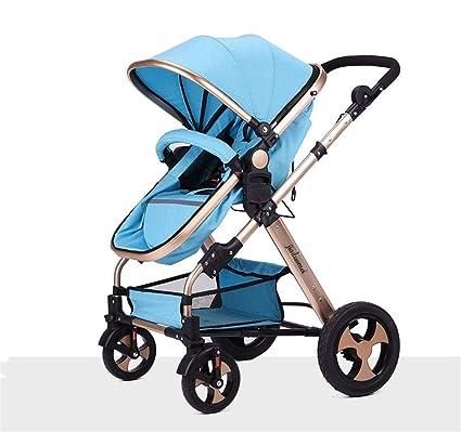 QIAOXC Carro de Bebé Recién Nacido Plegable Se Puede Sentarse y Acostarse Amortiguando Carro de Bebé