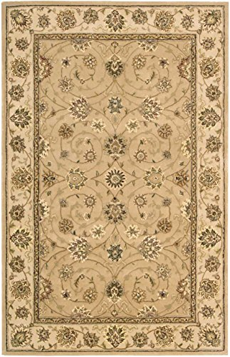 Nourison 2000 Hand-Tufted Camel Wool Rug 3'9 x 5'9 4' x 6' Oval