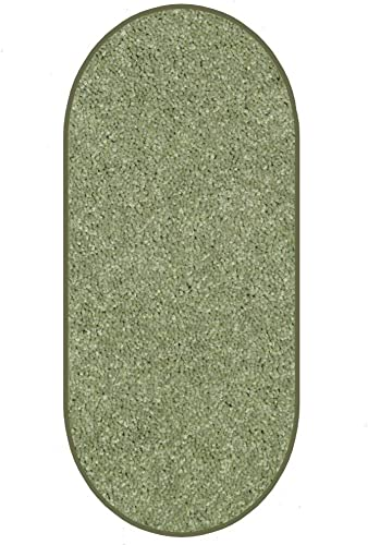 Koeckritz Oval 9 x12 Sage Leaf 30 oz Durable Cut Pile Area Rug. Multiple Sizes and Shapes to Choose from.