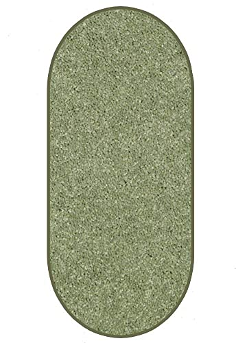 Koeckritz Oval 6 X9 Sage Leaf 30 oz Durable Cut Pile Area Rug. Multiple Sizes and Shapes to Choose from.