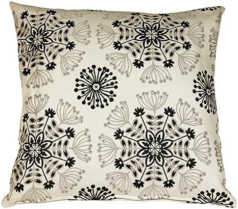 Amazon Com Pillow Décor Waverly Kaleidoscope Tuxedo 20x20 Throw Pillow Home Kitchen