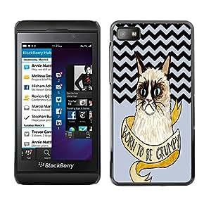 - Chevron Grumpy Cat - - Fashion Dream Catcher Design Hard Plastic Protective Case Cover FOR Blackberry Z10 Retro Candy