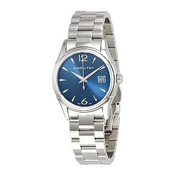 Amazon Com Hamilton Jazzmaster Lady Blue Dial Ladies Watch