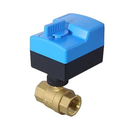 DC 12V vanne motoris/ée 2 voies 1//2 3//4 1 1-1//4 pouce electrovanne 12v eau 3//4 vanne electrique 12 volts 1 DN25