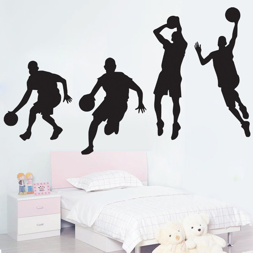 Inspiration Wall Stickers Basketball Removable Wall Decor Decals Sport Style for Kids Boys Nursery Living Room Bedroom School Office,20.9 x 47.2 Inch Enid Wing