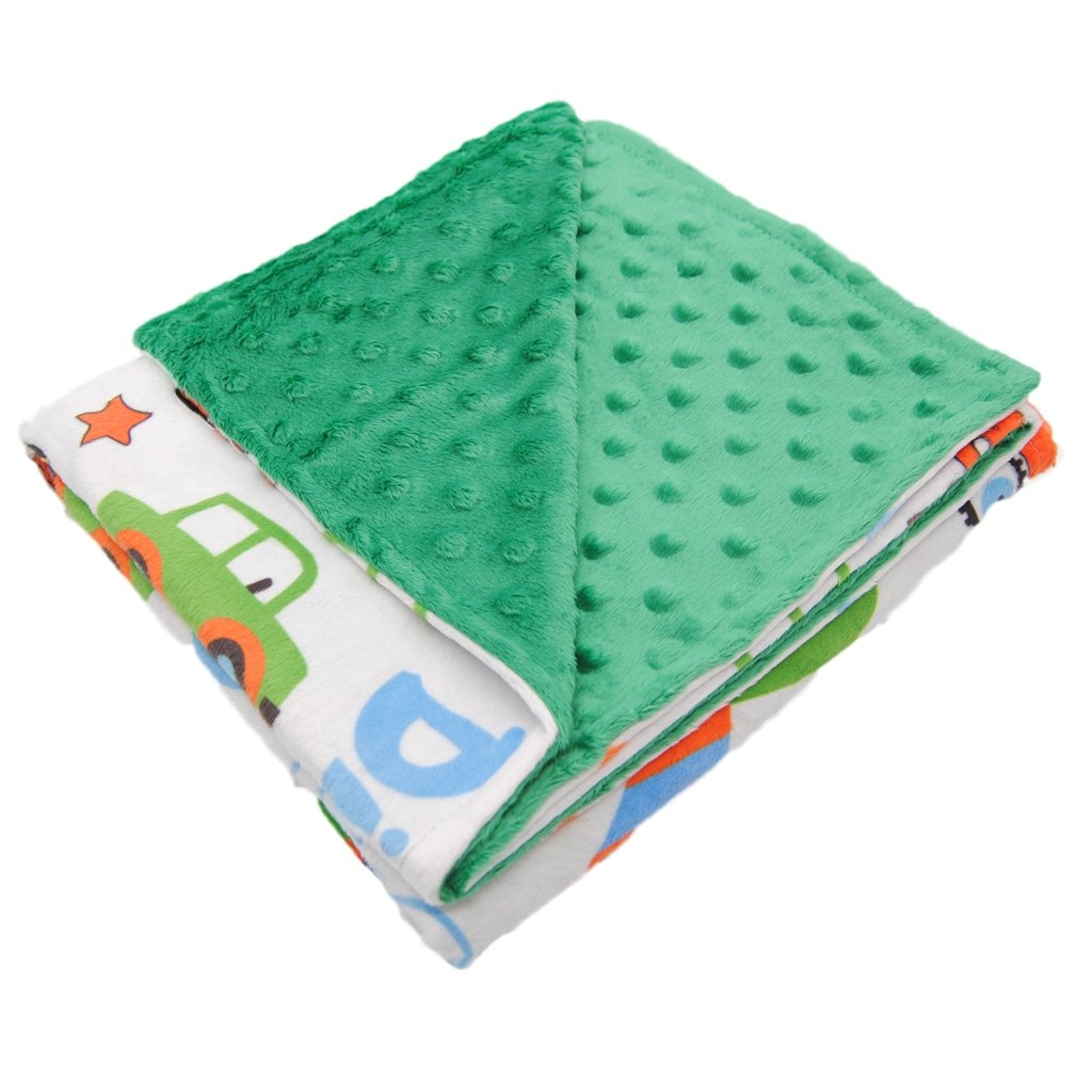 Premium Quality-Super Soft Baby Blanket-2 Layers Printed and Dotted Minky for Boys & Girls (Cream+Stars) Ørnen