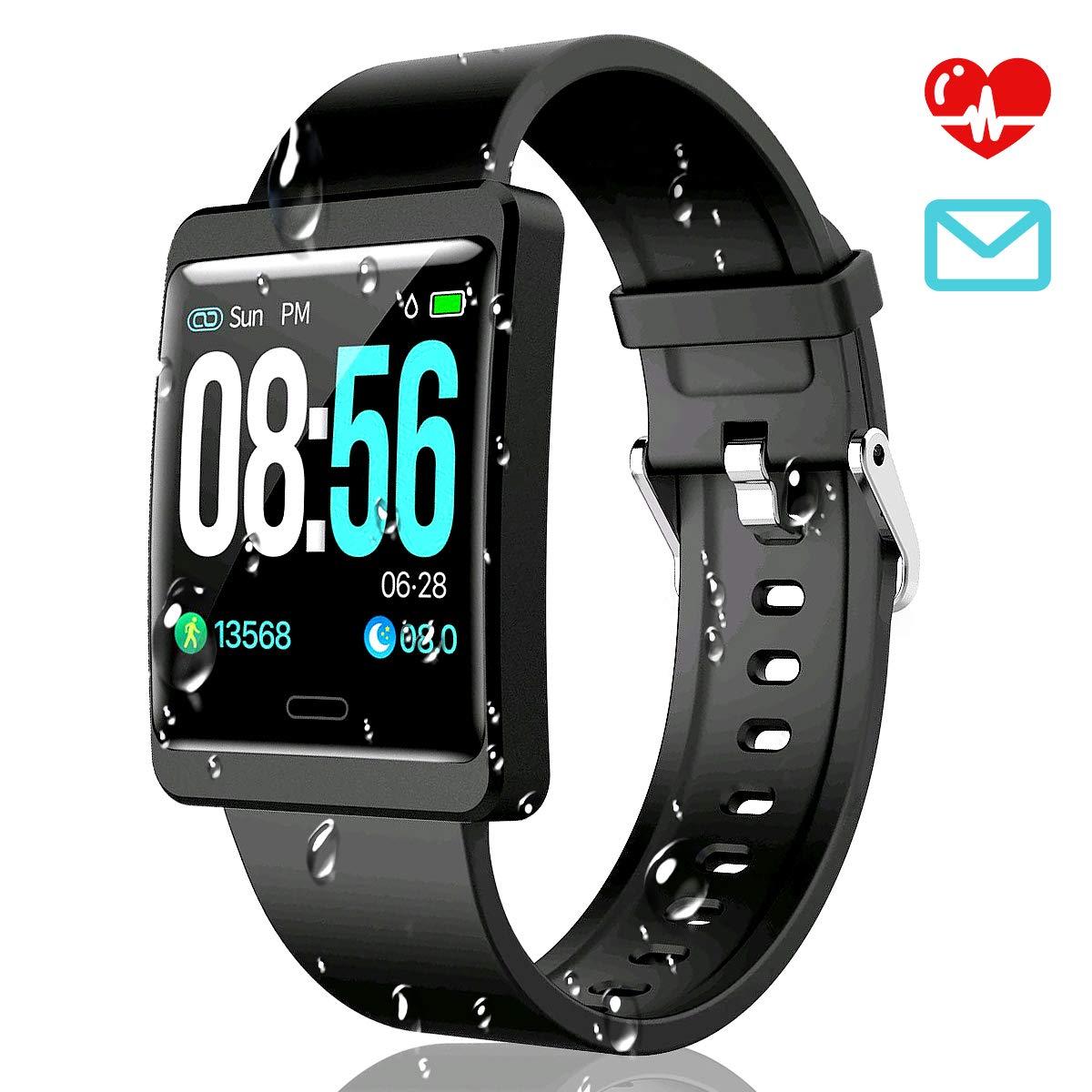 CatShin Smartwatch Pulsera Actividad-CS09 Impermeable IP67 ...