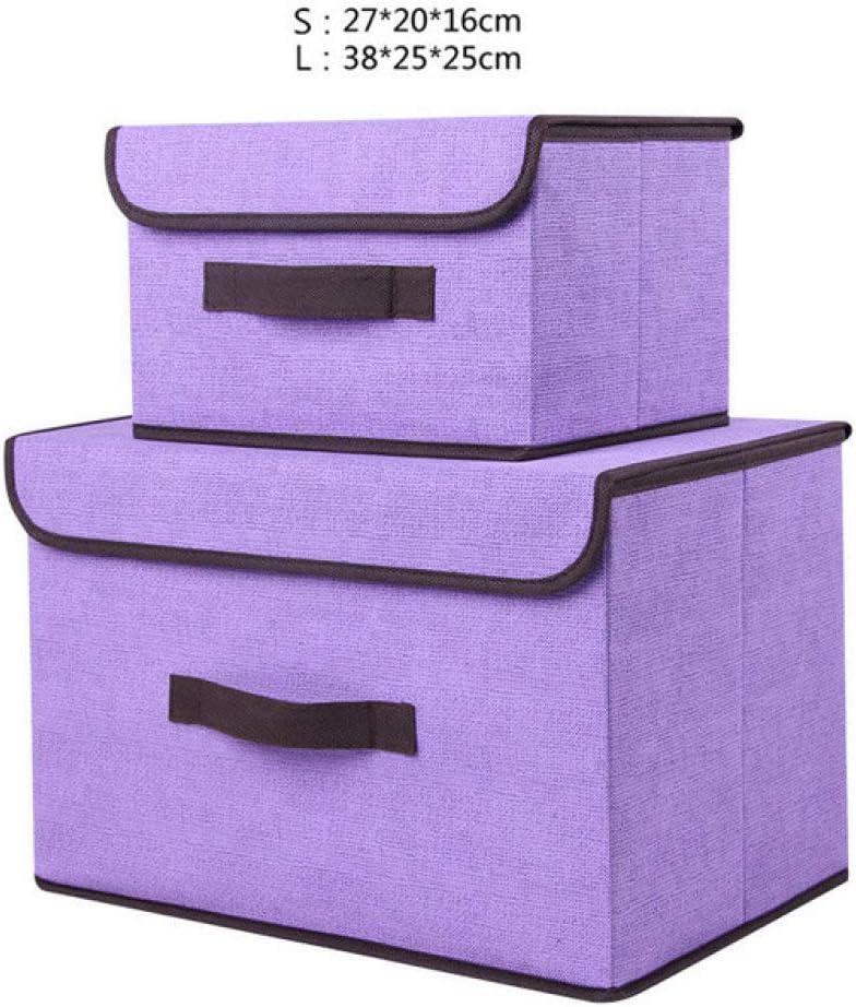 ktynskmx Caja de almacenamiento2 pcs/Set Tanque de Almacenamiento Cubierto de Maleta de Ropa, Cajas de Acabado de Ropa Interior no Tejida, Organizador de Juguetes, Cajas de Almacenamiento