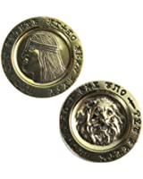 Conan Lion Gold Coin Collectible Fantasy Aquilonia Barbarian Destroyer