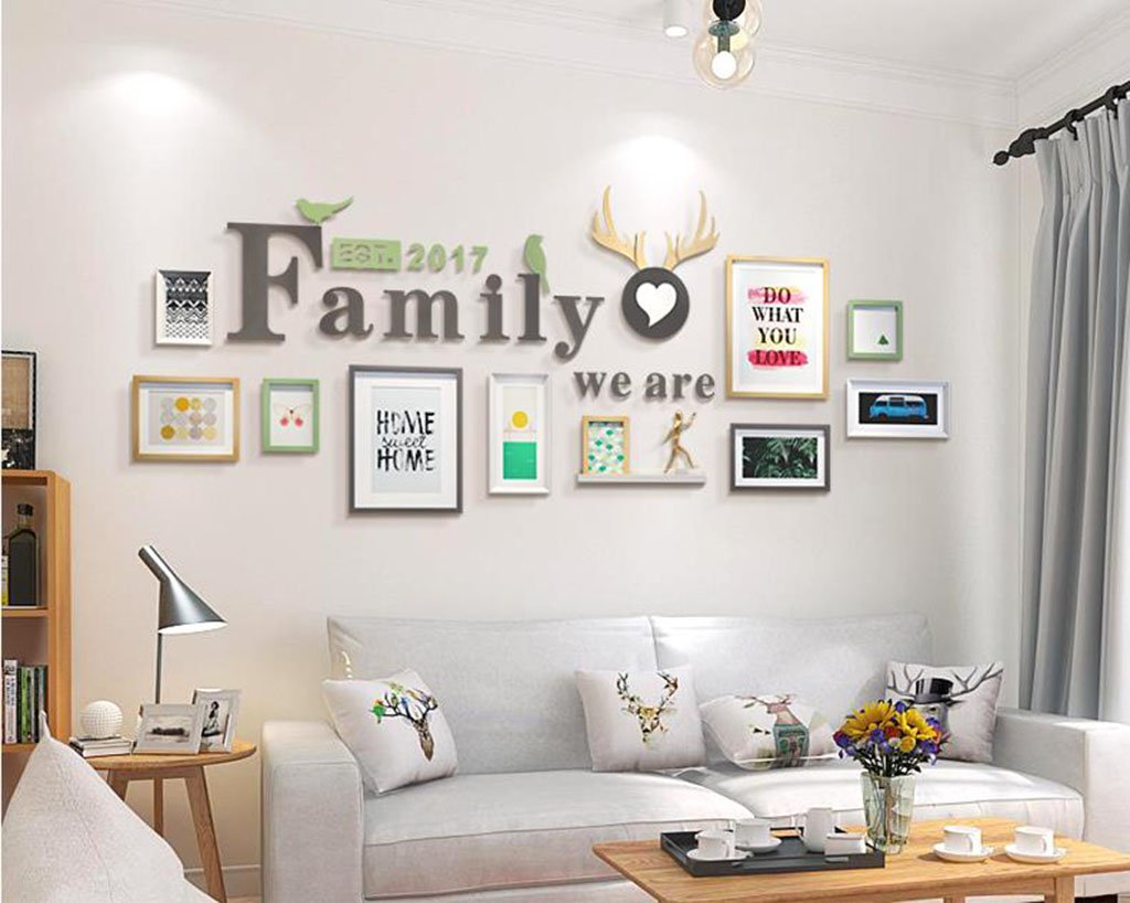 Color : B Photo wall frame Photo Gallery Frame Set Of Wall With Usable Artwork And Family Set Of 10 Fashionable design