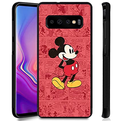 DISNEY COLLECTION Phone Case Compatible Samsung Galaxy S10 Cute Mickey Anti-Slip Shockproof Protective Tired Case Cover for Galaxy S10 6.1Inch