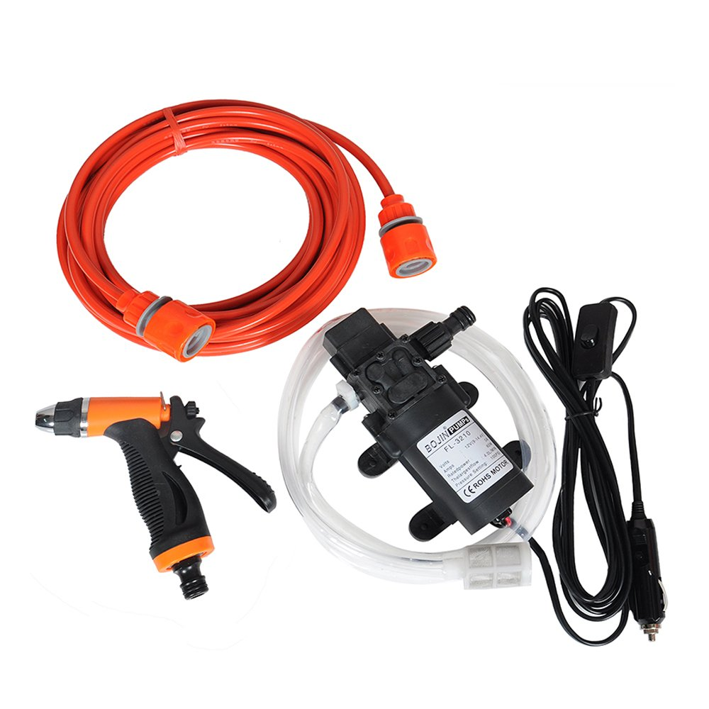 Fy-Light Car Washer Kit 12V 60W 100 PSI Self priming Car Wash Pump Portable High Pressure Electrical Car Washer Kit with Cigarette Lighter Adapter for Car, Garden,Projects,Cleaning by Fy-Light
