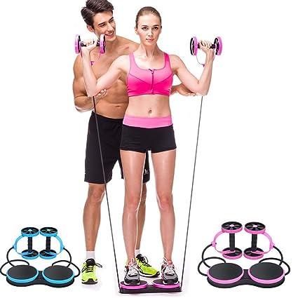 QYXANG Rueda Abdominal, Multifuncional Ejercicio Fitness AB Rueda de Rodillo para Cuerda Abdominal Cuerda Twist Weight Training Exercise Equipment: ...