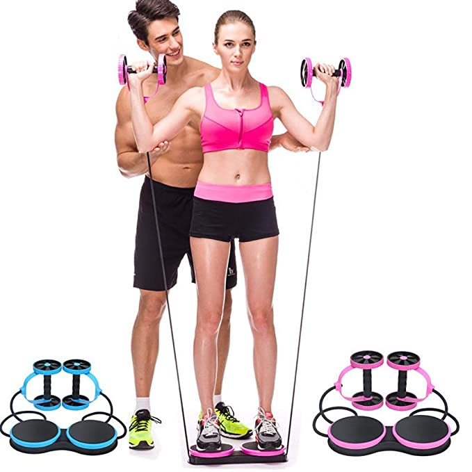 QYXANG Rueda Abdominal, Multifuncional Ejercicio Fitness AB Rueda de Rodillo para Cuerda Abdominal Cuerda Twist Weight Training Exercise Equipment: ...