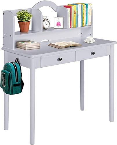39″ Grey Writing Computer Desk