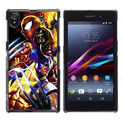 CASETOPIA / Video Game Charachters / Sony Xperia Z1 L39 C6902 C6903 C6906 C6916 C6943 / Black Hard Back Case Cover Shell Armor (Cartoon Charachters)