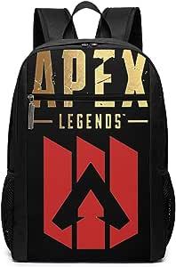 Knmhjtf APEX Legends Hero Laptop Backpack Adjustable Travel Hiking Bags Laptop Shoulder Bag Daypack for Men and Women