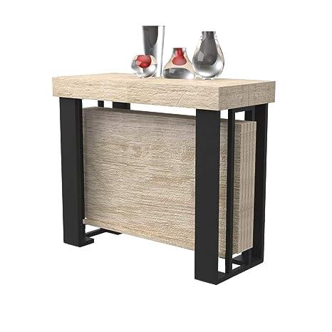 Tavolo consolle allungabile Urano con porta allunghe - legno ...