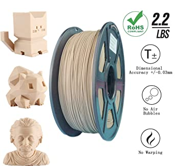 Amazon.com: Filamento de madera Pla Filamento de madera ...