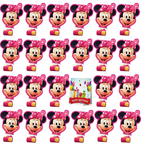 Minnie Party Blowouts Bundle Pack of 24 -