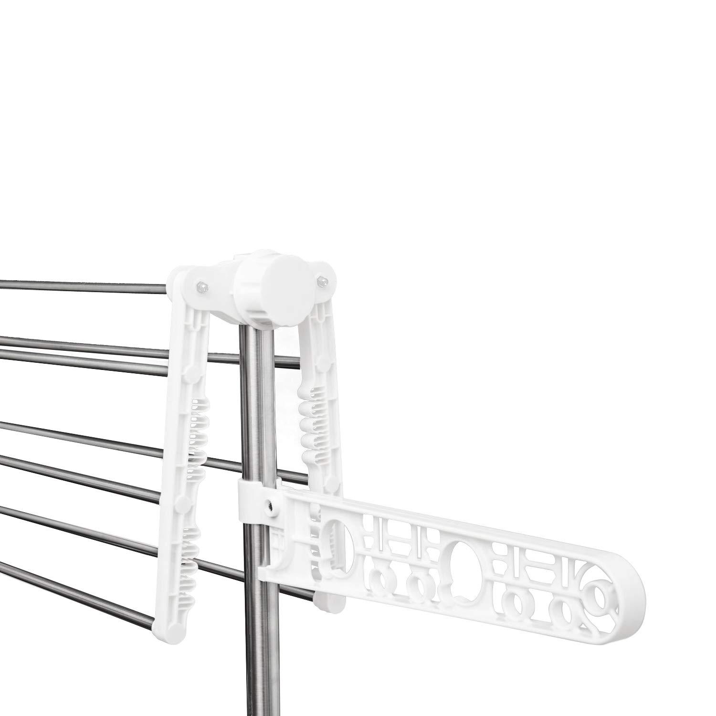 Style home W/äschest/änder mobiler W/äschetrockner-Turm Klappbar Standtrockner Kleiderstange Seitenfl/ügel auf 4 Ebenen LxTxH 80 x 13 x 178 cm 4 Ebenen