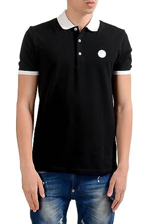 Versace Collection Men s Black Short Sleeves Polo Shirt US L IT 52 ... 8907c91eadb3