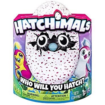 Hatchimals Hatching Egg Interactive Creature Penguala Pink Egg by Spin Master