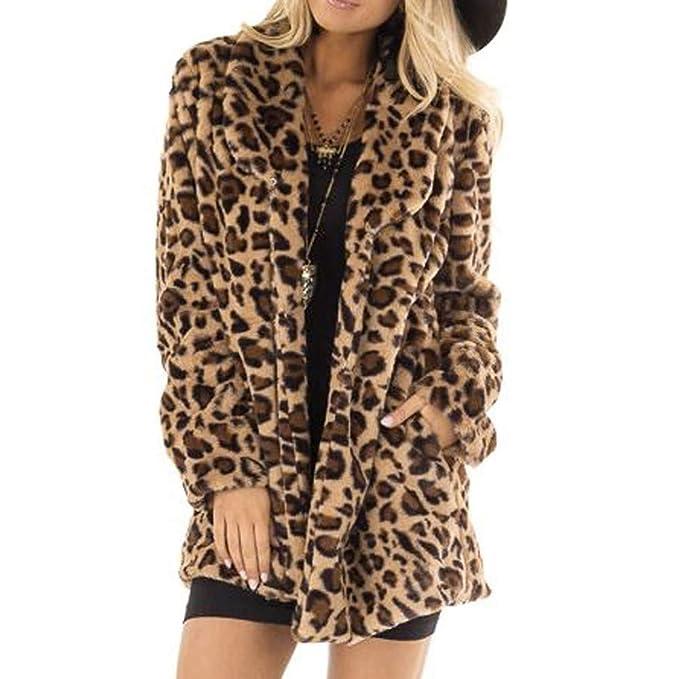 Abrigo Mujer, Estampado de Leopardo Abrigo Mujer Invierno ...