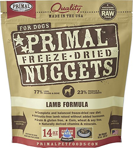Primal Freeze-Dried Nuggets Lamb Formula Dogs 56oz (4 x 14oz)