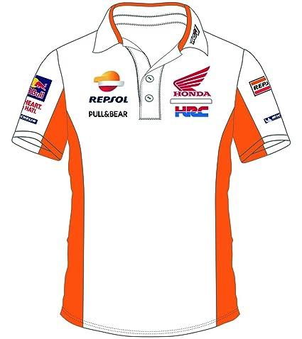 Honda Repsol Moto GP Teamwear Replica White Polo Shirt Official 2018