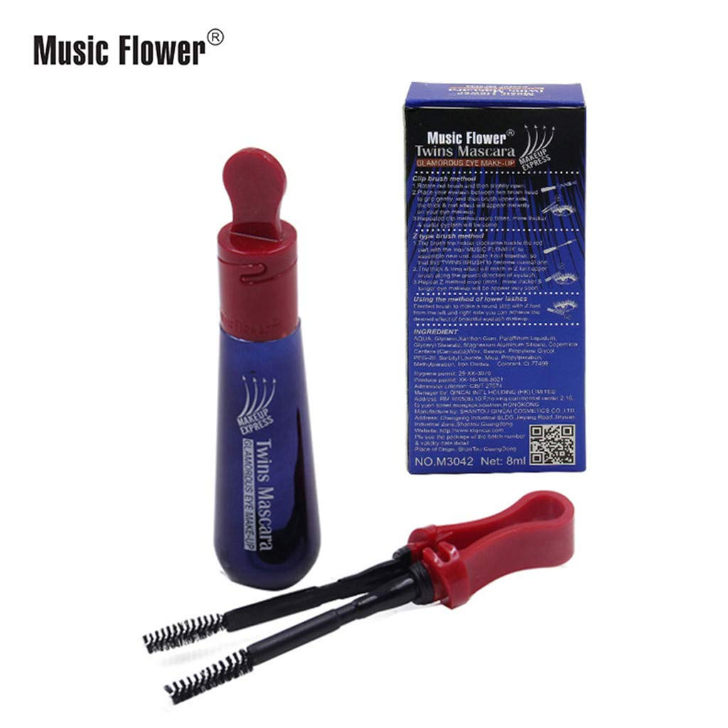 Amazon.com : NewKelly Music Flower Black Mascara Thick Curly Long Waterproof Instantaneous Elongat : Beauty