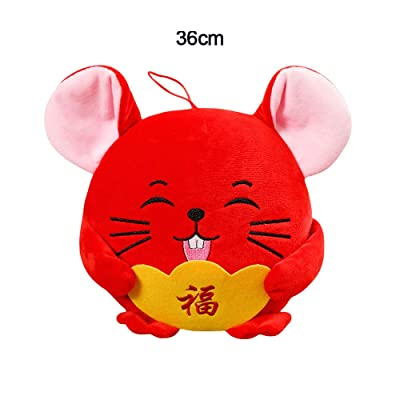 WDDH Mouse Stuffed Animal Plush Toy,Soft Cute Cuddly Rat Doll Toy 2020 Chinese New Year Zodiac Animal Mascot Toys Gifts for Kids: Office Products