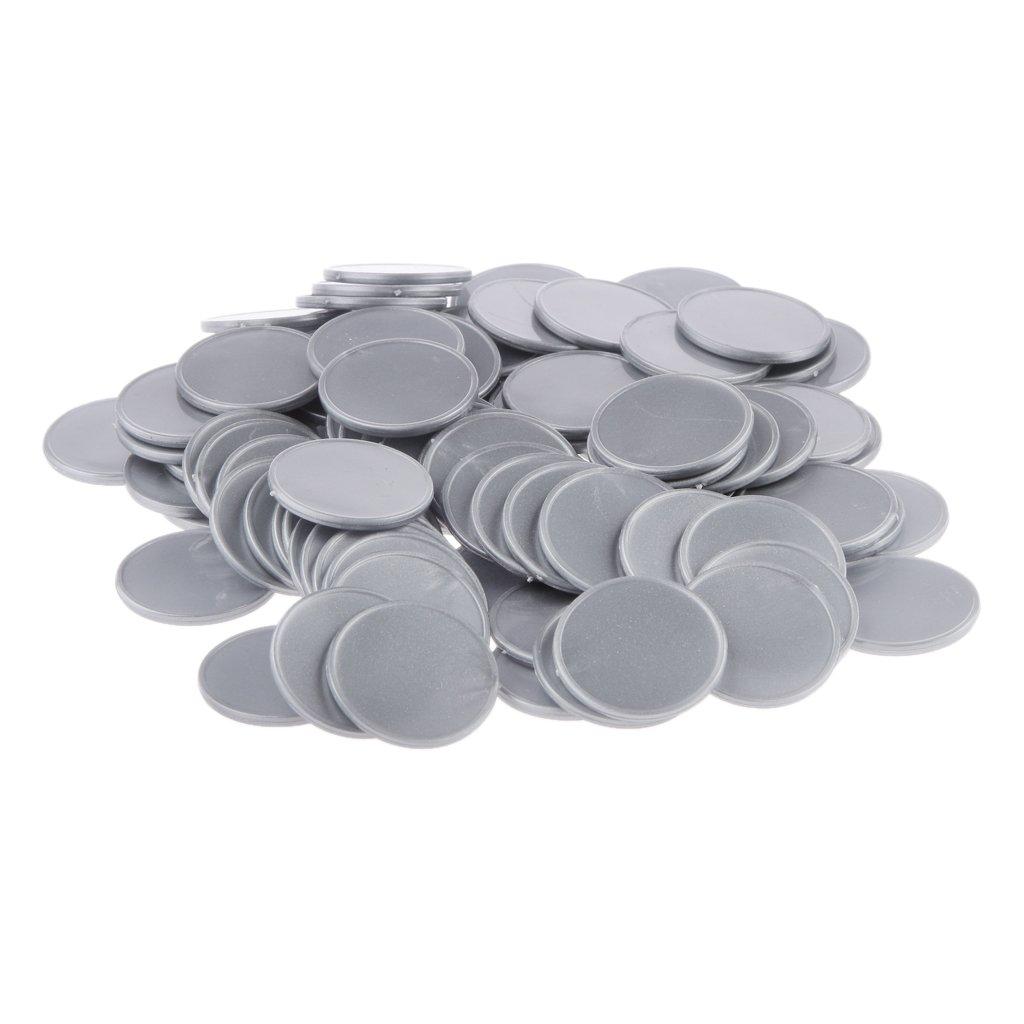 // Dunkelblau 100x Chip-Poker-Spiel Brettspiel Chip DIY Fertigkeit Poker Chips kinder Spielzeug 25mm