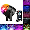 DJ Disco Lights Party Ball Lights, Zacfton LED Rotating Magic Sound Activated Lights 3W 7-Color Stage Strobe Effect Show Lamp Lighting bulb Kids Night Lights for Gifts Club Party Holiday Wedding from Zacfton