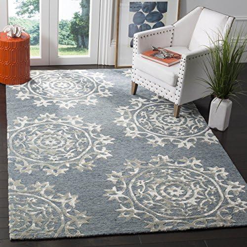 Safavieh Bella Collection BEL914A Blue Premium Wool Viscose Area Rug 8' x 10'