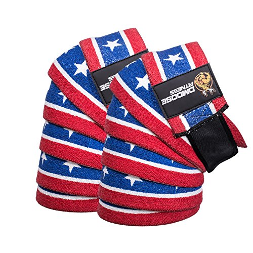 DMoose Fitness Knee Wraps - Strong Fastening Straps, Durable Stitching - Heavy Duty 78