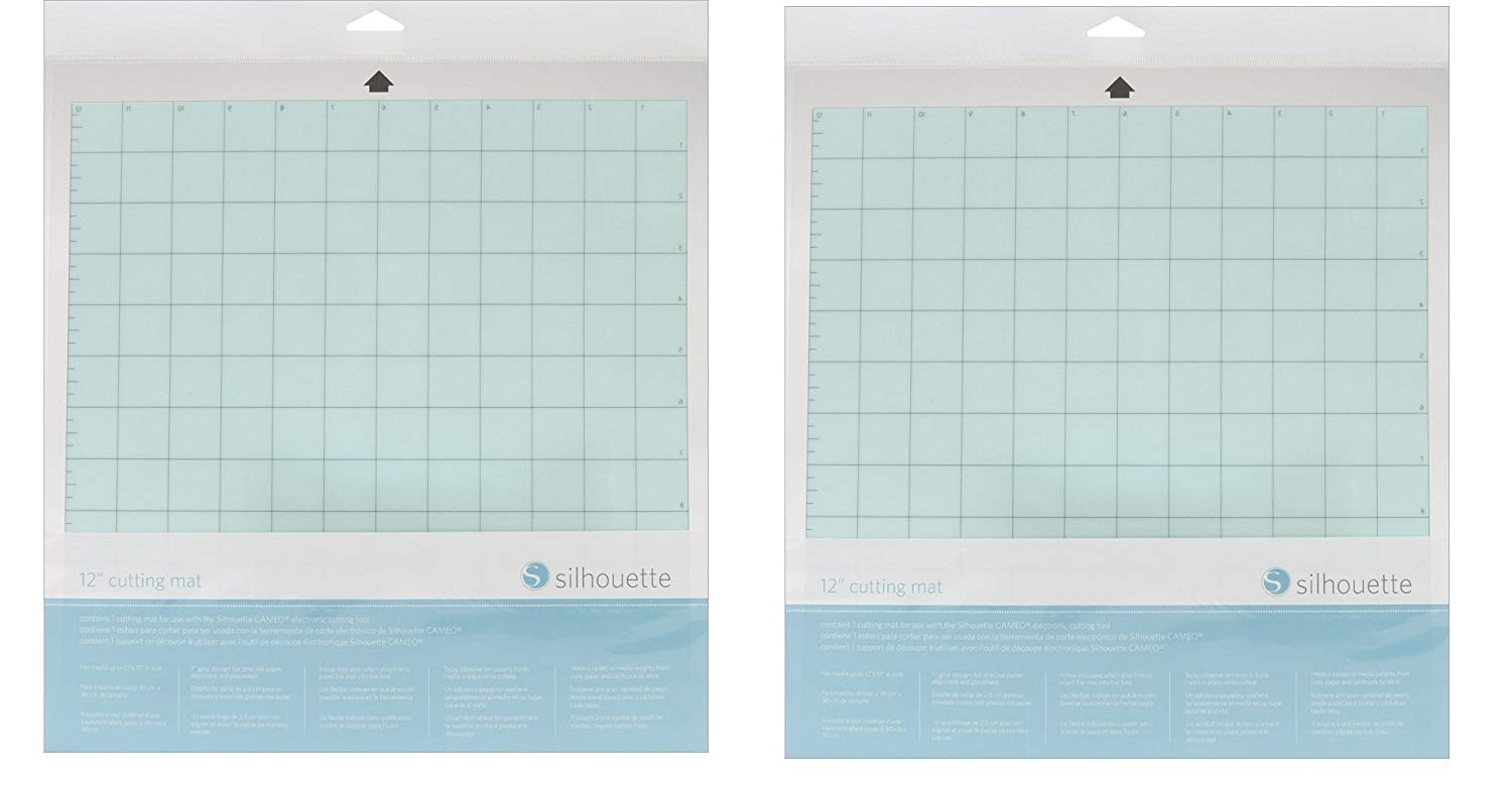Silhouette America CUT-MAT-12-3T-2PACK 12' Cutting Mats, 2 Pack, Clear