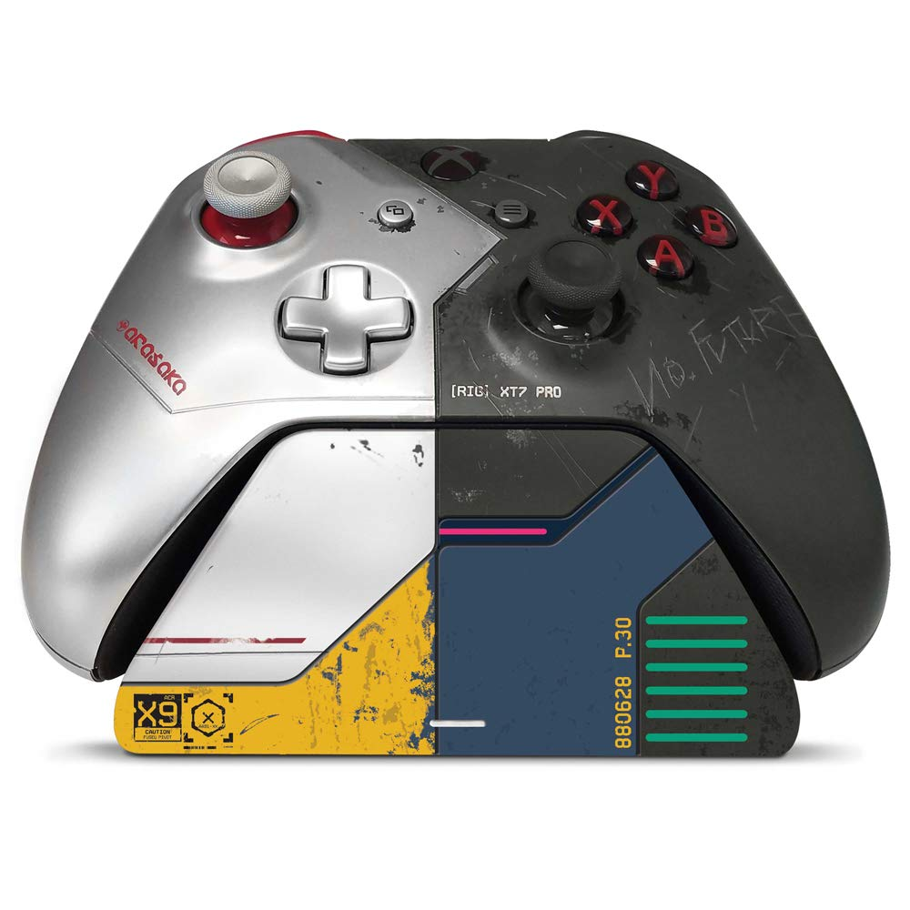 Controller Gear Cyberpunk 2077 Limited Edition - Xbox Pro Charging Stand/Charging Station - Officially Licensed Xbox Accessory (Controller Sold Separately) - Xbox One (CSXBCPX1R-00CYB)